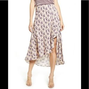 CODE MODE Nordstrom Lilac Floral Midi Skirt